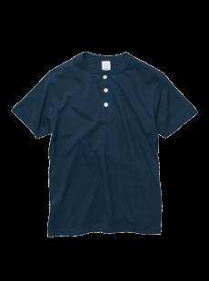 5004-01 5.6オンス ヘンリーネック Tシャツ